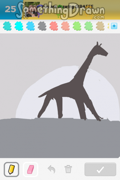 Giraffe drawn by jeremy on draw something for Giraffe draw something