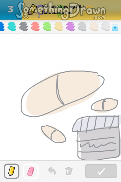 Pill drawn by n00bsaur on draw something for How to draw a pill