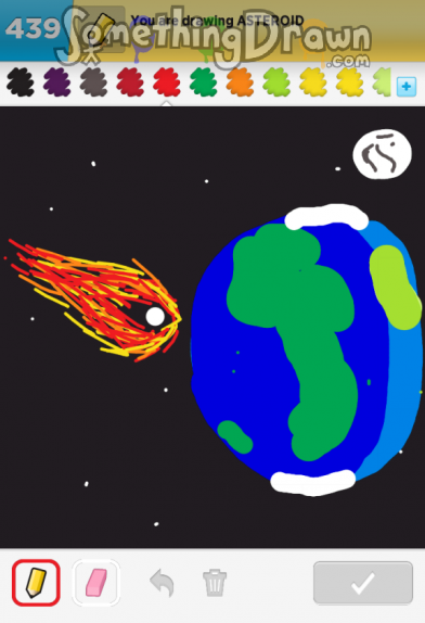 drawn picture of an asteroid - photo #5