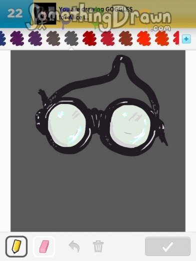 how to draw goggles easy