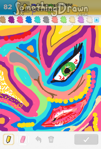 how to draw somethhing colourful
