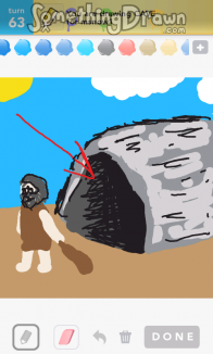 how to draw the easiest cave