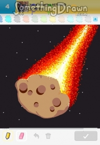 drawn picture of an asteroid - photo #27